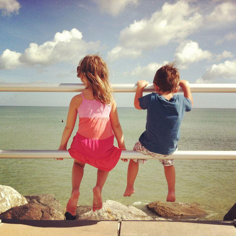 Kids ocean pier